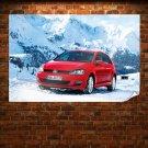 Red Volkswagen Golf 2013 Poster 36x24 inch