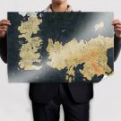 Map Game Of Thrones Poster 36x24 inch