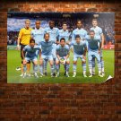 Man City Champions League Poster 36x24 inch