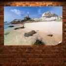 Beach Corner Landscape Poster 36x24 inch