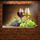 Red And White Wine Poster 36x24 inch
