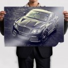 Bentley Continental Black Tuned Poster 36x24 inch