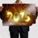 Happy New 2015 Poster 36x24 inch