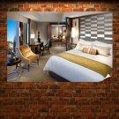 Bedroom Area Design Poster 36x24 inch
