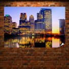 London Canary Wharf Poster 36x24 inch