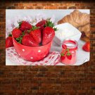 Strawberries And Sour Cream Poster 36x24 inch