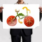 The Raw Food Bike Poster 36x24 inch