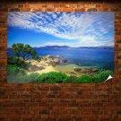 Coast Of Porticcio Poster 36x24 inch