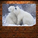 Cute Polar Bears Poster 36x24 inch