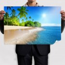 Tropical Beach Corner Poster 36x24 inch