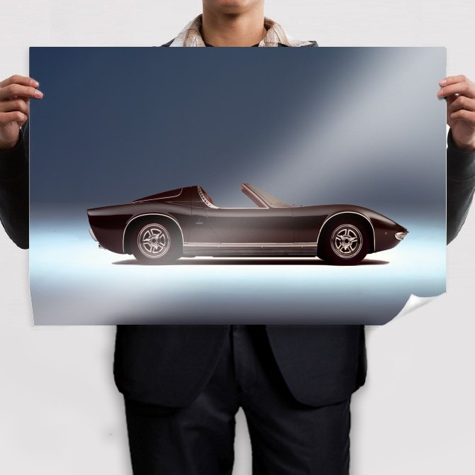 Lamborghini Miura Roadster Poster 36x24 inch