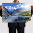 Summer Mountain Landscape Poster 36x24 inch