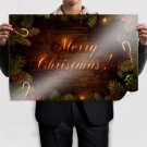 Merry Christmas Wish Decoration Poster 36x24 inch
