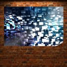 3d Geometric Background Poster 36x24 inch