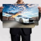 Silvery Nissan Gt R35 Poster 36x24 inch