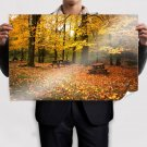 Autumn Leaves Falling Down Poster 36x24 inch