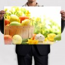 Eggs For Happy Easter Poster 36x24 inch