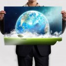 Superb Planet View Poster 36x24 inch
