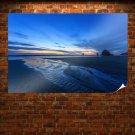Sunset Oregon Beach Poster 36x24 inch