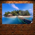 Exotic Island In Maldives Poster 36x24 inch