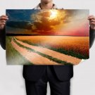 Sun Behind The Clouds View Poster 36x24 inch