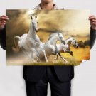 Wilde White Horses Poster 36x24 inch