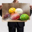 Handmade Easter Eggs Poster 36x24 inch