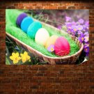 Cool Easter Eggs Poster 36x24 inch