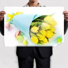 Easter Tulips And Egs Poster 36x24 inch