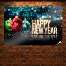 Happy New Year Ornament Poster 36x24 inch