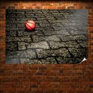Basketball On The Pavement Wallpaper Poster 36x24 inch