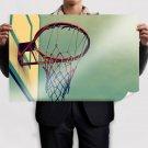 Basketball Hoop Wallpaper Poster 36x24 inch