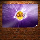 Los Angeles Lakers Logo Wallpaper Poster 36x24 inch