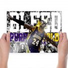 Kobe Bryant Bleed Purple And Gold  Poster 24x18 inch