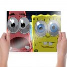 Patrick And Spongebob  Poster 24x18 inch