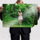 Asian Girl In The Forest  Poster 36x24 inch