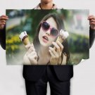Girl Holding Ice Cream  Poster 36x24 inch