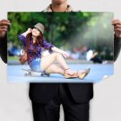 Pretty Oriental Woman  Poster 36x24 inch