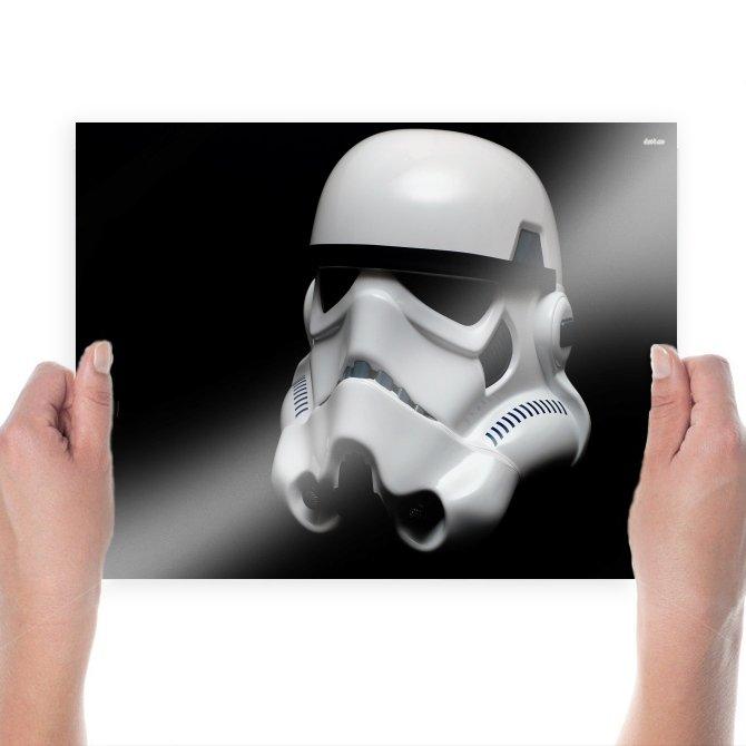 Storm Trooper Helmet  Poster 24x18 inch