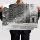 Buildings Street Carriage Retro Vintege Poster 32x24 inch