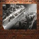 Train Retro Vintege Poster 32x24 inch