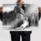 Creature From The Black Lagoon Julie Adams Monster Retro Vintege Poster 32x24 inch