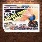 Killers From Space Movie Poster Retro Vintege Poster 32x24 inch