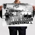 Enola Gay Airplane Plane Bomber Crew Retro Vintege Poster 32x24 inch