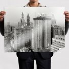 Buildings Skyscrapers New York Retro Vintege Poster 32x24 inch