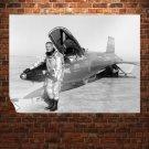 Neil Armstrong Jet Retro Vintege Poster 32x24 inch