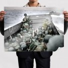 Wwii World War Soldiers Normandy Retro Vintege Poster 32x24 inch