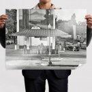 Gas Station Classic Car Classic Retro Vintege Poster 32x24 inch