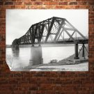 Bridge Retro Vintege Poster 32x24 inch