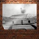 Train Train Yard Retro Vintege Poster 32x24 inch